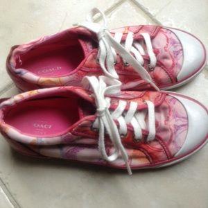 Coach Shoes - Coach Sneakers, sz 7 B, Colorful Canvas Design